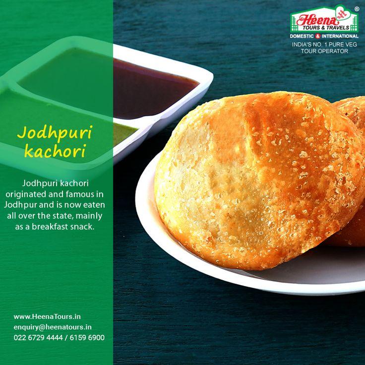 Today's Travel Food :: Jodhpuri Kachori..!! Jodhpuri kachori originated and famous in Jodhpur and is now eaten all over the state, mainly as a breakfast snack.