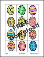 Free Printable Easter Egg Visual Discrimination Activity for #preschool and #kindergarten