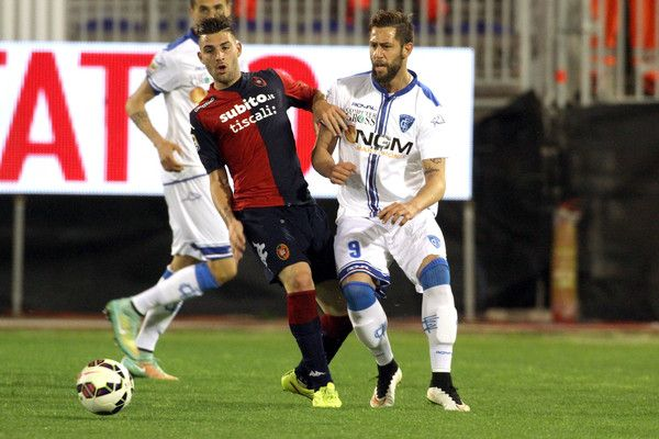 Nicola Murru Photos - Nicola Murru of Cagliari and Mchedlidze Levan of Empoli in action during the Serie A match between Cagliari Calcio and Empoli FC at Stadio Sant'Elia on March 14, 2015 in Cagliari, Italy. - Nicola Murru Photos - 37 of 69