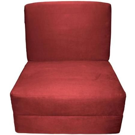 Nomad Adult Foam Sleeper Chair Bed Suede Cardinal Red Upholstery - Walmart.com