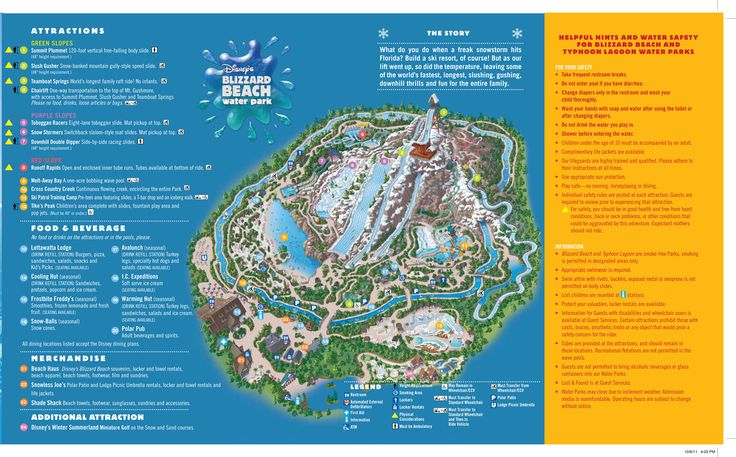 Disney's Blizzard Beach Water Park map