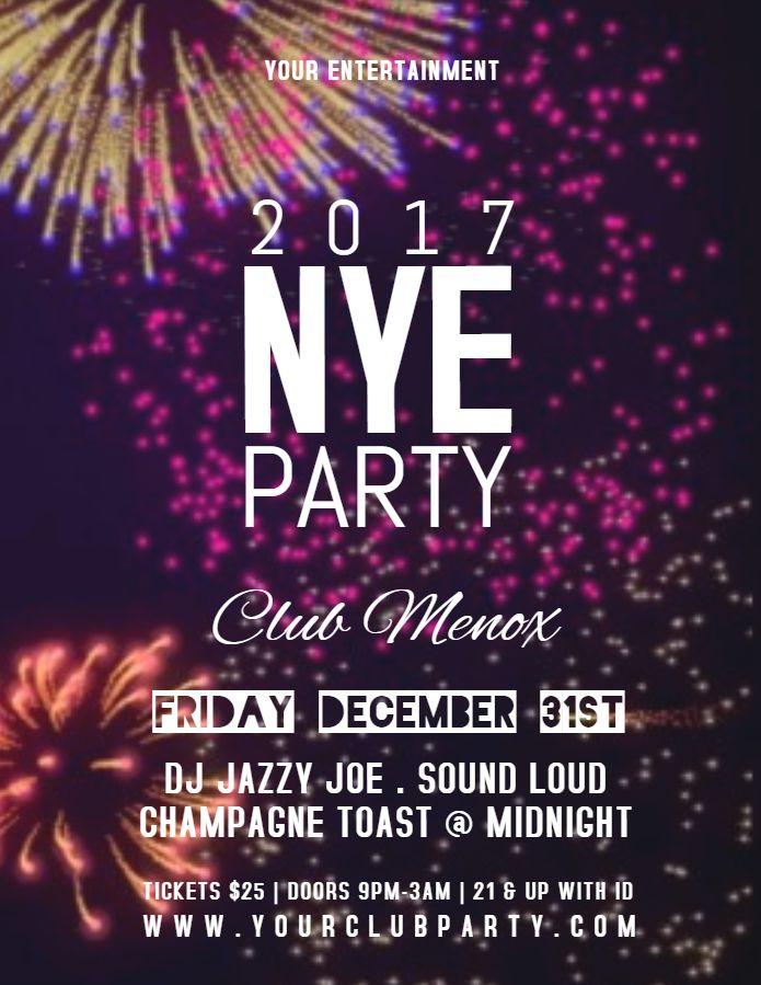 28 best New Year Flyer Templates images on Pinterest Online - new year poster template