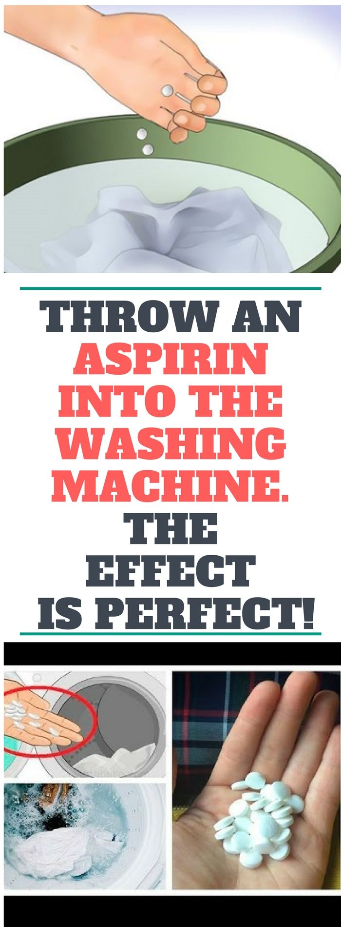 Throw An Aspirin Into The Washing Machine. The Effect Is Perfect..!!!