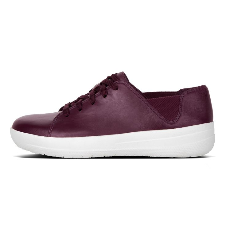 F-SPORTY LEATHER LACE-UP SNEAKERS Deep Plum FitFlop Official Online Store