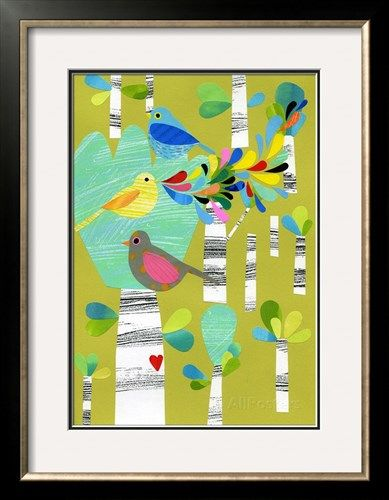 オールポスターズの Anne Vasko「Birds of the Forest」ジクレープリント