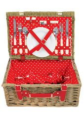Polka Dot 2 Person Picnic Basket