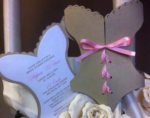 Corset Invitation Bridal Shower Invitation Lingerie Invitation Lingerie Shower Bachelorette Party Invitation Tiffany Bridal Shower Theme