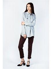 Рубашка BURLO  Рубашка свободного кроя в стиле бойфренд с накладным карманом и разрезами по боковому шву.. Рубашка BURLO промокоды купоны акции.
