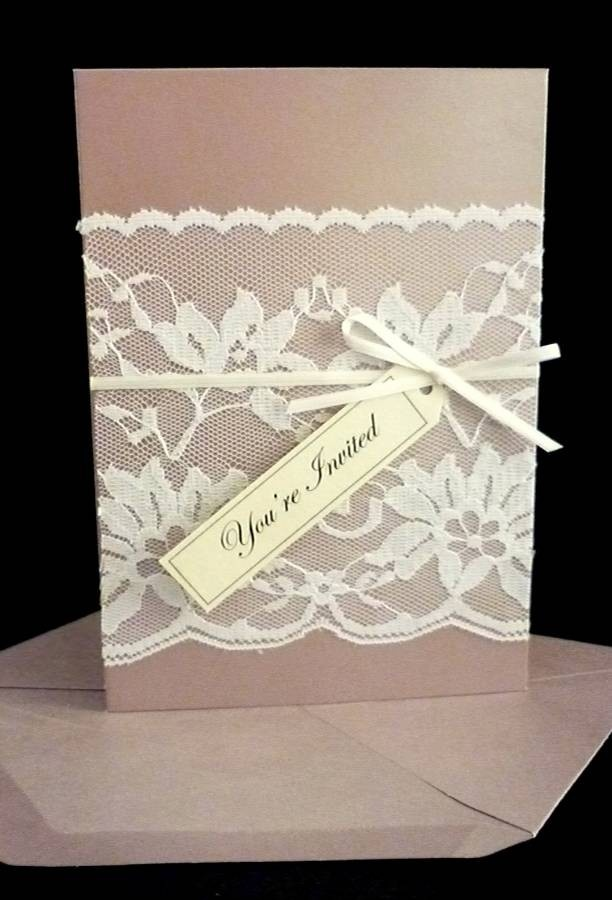 lace wedding invitation wrap%0A Vintage Lace Wedding Invitation by StunningStationery on Etsy