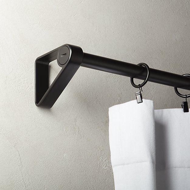 Minimalist Curtain Rod Black Curtain Rods Black Curtains