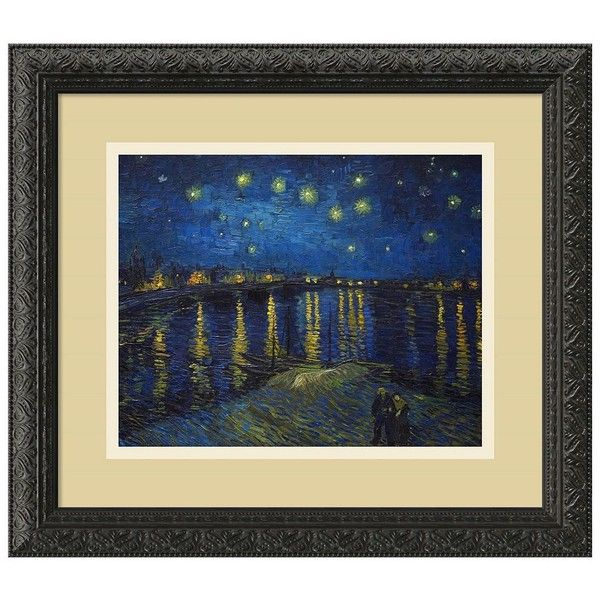 Amanti Starlight Over The Rhone Framed Wall Art By Vincent Van Gogh ($154) ❤