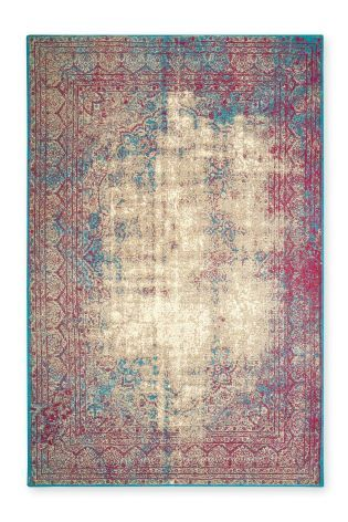 Antique effect fuschia/ blue oriental worn rug...from Next! Shame I would want the biggest (aka the most expensive) size though eh...