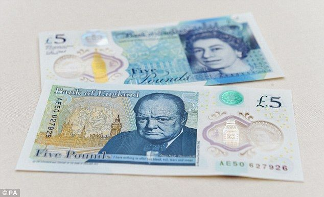 Responding to a question on Twitter, the Bank of England confirmed the new £5 notes (pictu...