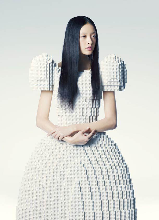 LEGO Wedding Dress – by Japanese artist Rie Hosokai