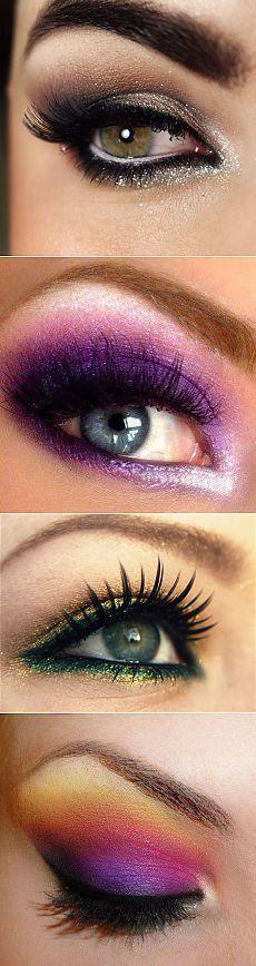 Гламурный макияж глаз