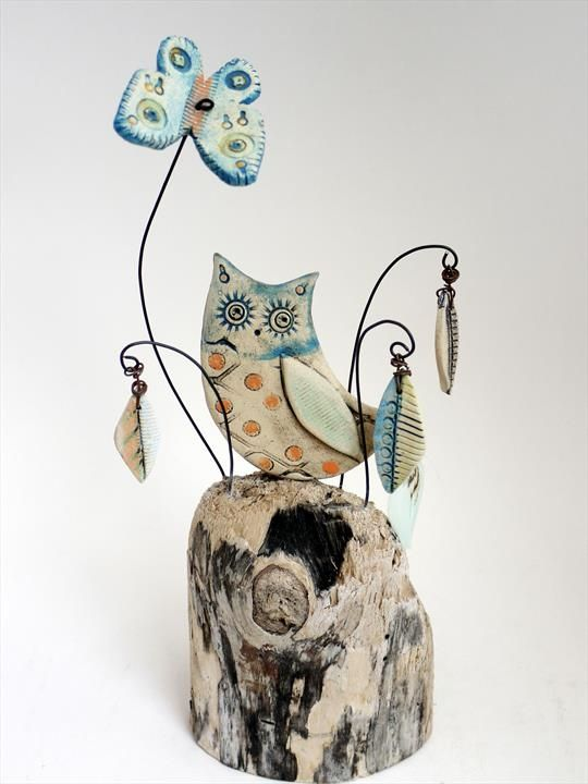 Owl and Butterfly - Shirley Vauvelle