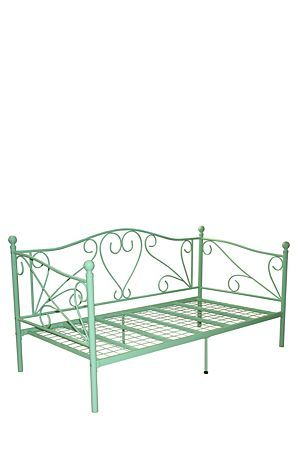 "This metal day bed has a charming romantic style. Made with powder coated metal, the feminine inspired design will be a focal point in any interior or patio setting.<div class=""pdpDescContent""><ul><li> Metal</li><li> Assembly required</li></ul></div><div class=""pdpDescContent""><"