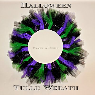 Halloween Tulle Wreath from Craft A Spell