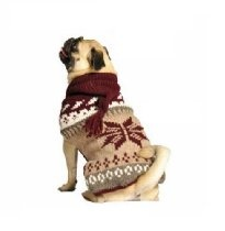 Chilly Dog Rustic Snow Hoodie Dog Sweater, XX-Large