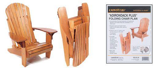 "Veritas® ""Adirondack Plus"" Folding Chair Plan - Lee Valley Tools"