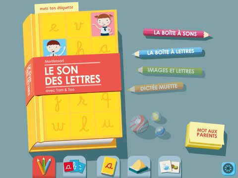 4.5 stars Montessori style kids app for French