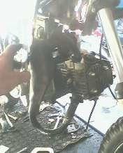 adaptando motor shineray 50 em mini moto 2 tempos,