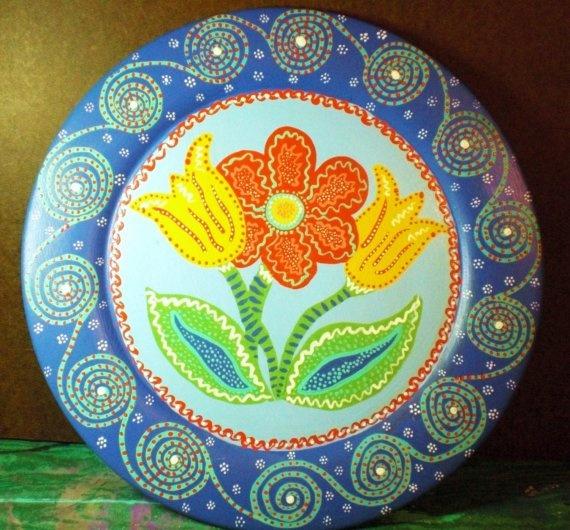 hand painted plate  sc 1 st  Pinterest & 17 best Hand Painted Plates images on Pinterest | Painted plates ...
