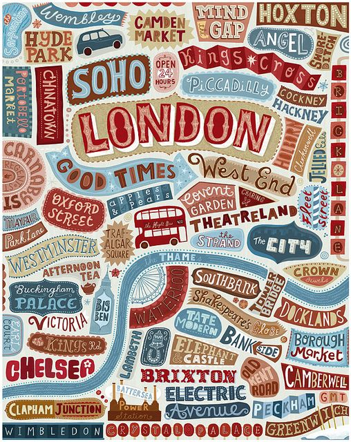 London by Linzie Hunter, via Flickr