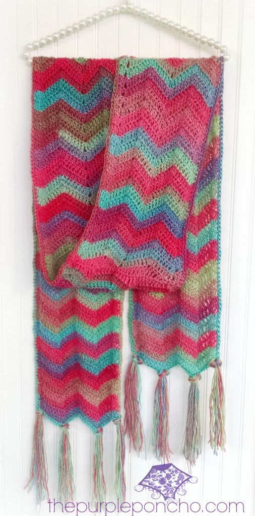 Chevron Super Scarf – Crochet Pattern – The Purple Poncho