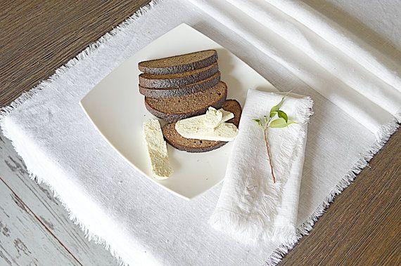 Handmade linen table runner White linen Linen by pureWHITEspa