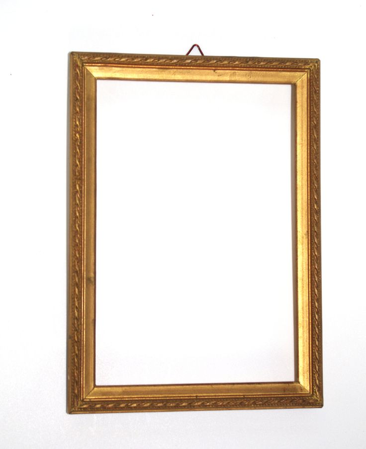 Vintage Wood Picture Frame/ Flowery Ornament Photo frame/ Antique golden frame/ wooden picture frame / golden tone / time worn shabby / Rare by VintagePolkaShop on Etsy