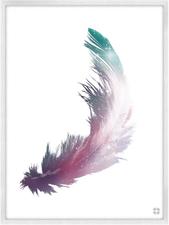 feather tattoo design, lovin the way theres a space in this design