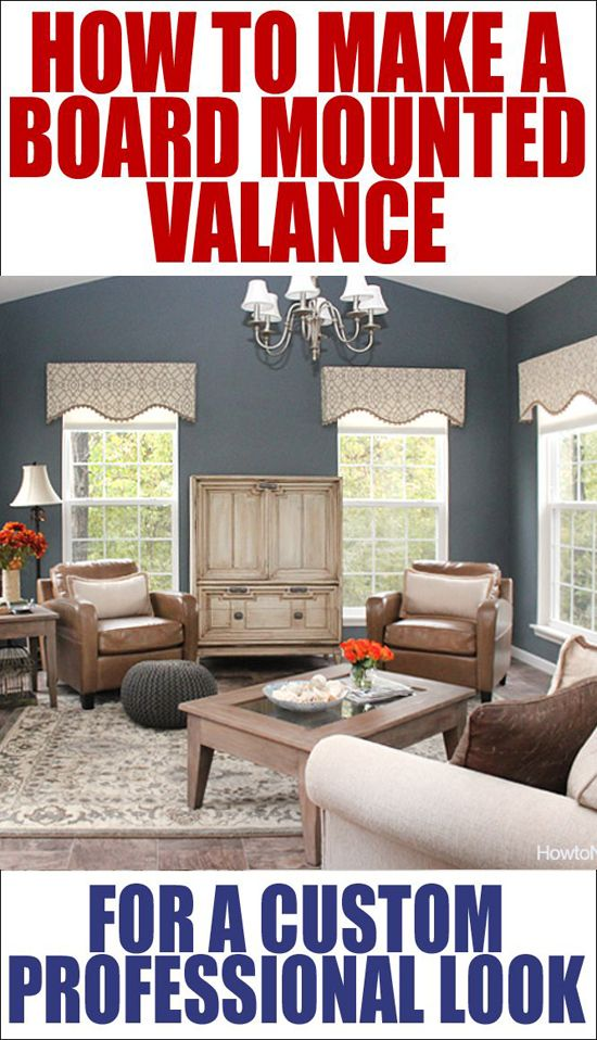 How to Make a Board Mounted Valance