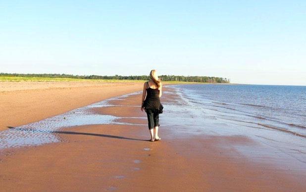 Beach in Pictou County,, Nova Scotia
