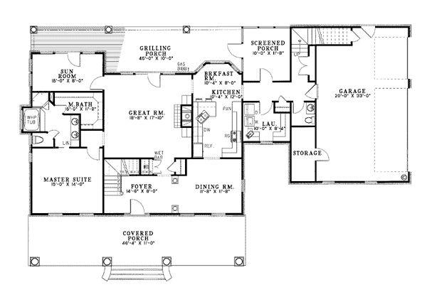 Cape Cod House Plan 62045