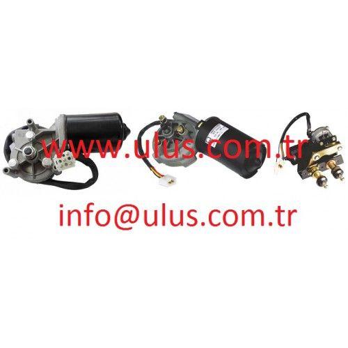 08180-12411 Silecek Motoru, Wiper Motor, Engine assy, Komatsu, Kobelco, Sumitomo, Caterpillar, Cat, Kawasaki, Hitachi, Jcb iş makinaları yedek parçaları