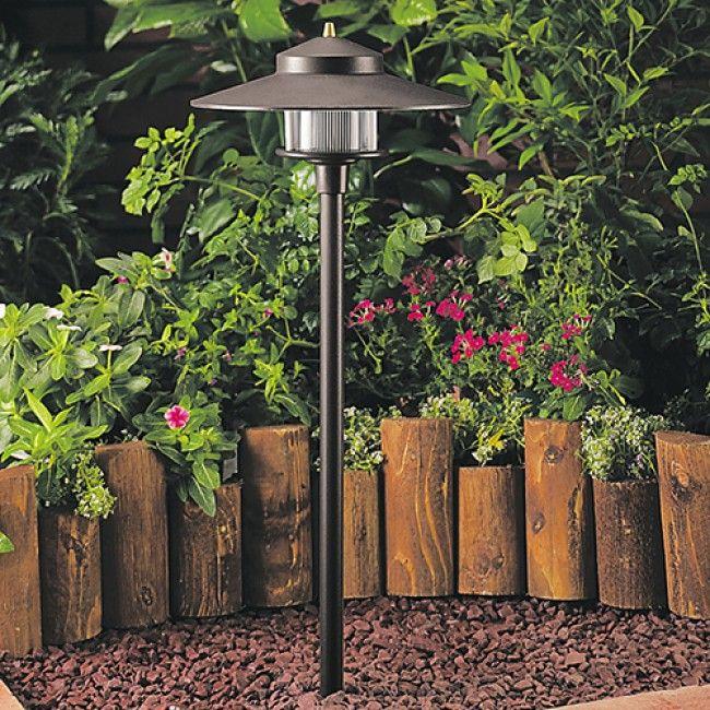 56 best outdoorlandscape lighting images on pinterest landscape 12 volt aluminum t3 halogen round path light with abs ground stake by vista pro lighting workwithnaturefo