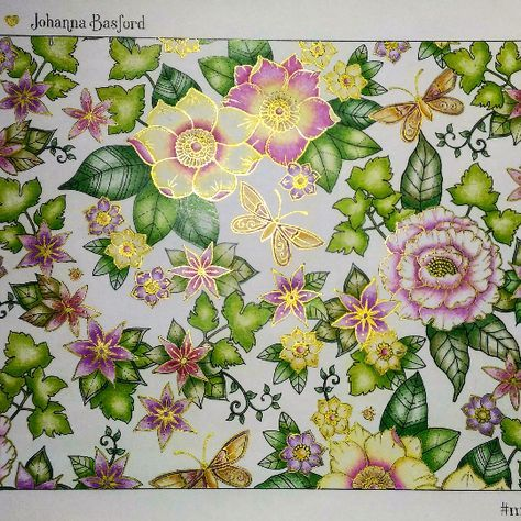 309 Best Inspirations To Color Johanna Basford Images On Pinterest
