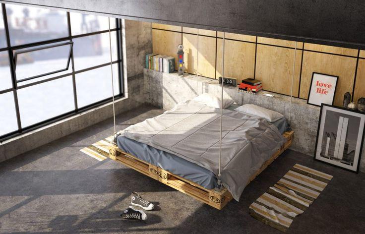 1712 best bedroom chambre images on pinterest - Deco industrielle chambre ...