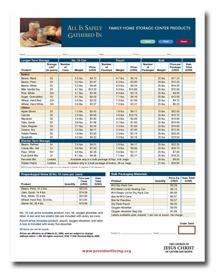 Lds Food Order Form - Recipes Food