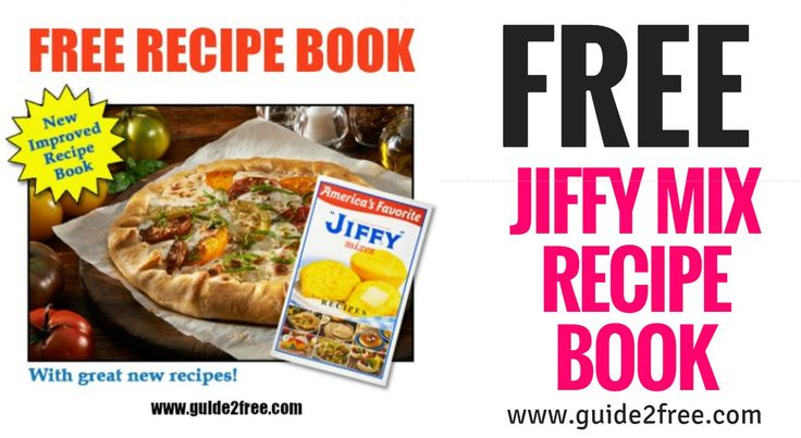 "Get a FREE copy of our Hospitality in a ""JIFFY"" recipe book from Jiffy Mix.  Make sure you use a real email as they do send a confirmation link you must click.The ""Jiffy"" Mixes Recipes cookbook offers 68 pages of cakes, cookies, muffins, biscuits, appetizers and main dishes you can fix quick using a box of Jiffy mix.  You also can also search the online recipe database."