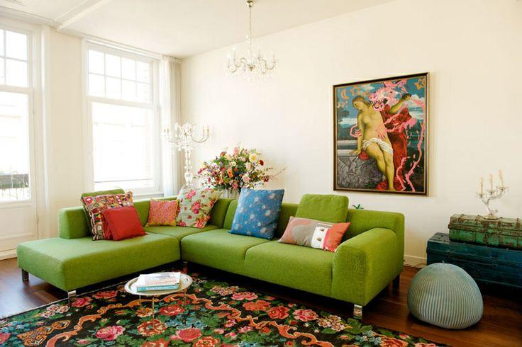 Meer dan 1000 idee u00ebn over Groene Bank op Pinterest   Fluwelen sofa, Fluwelen bank en Groen bankstel