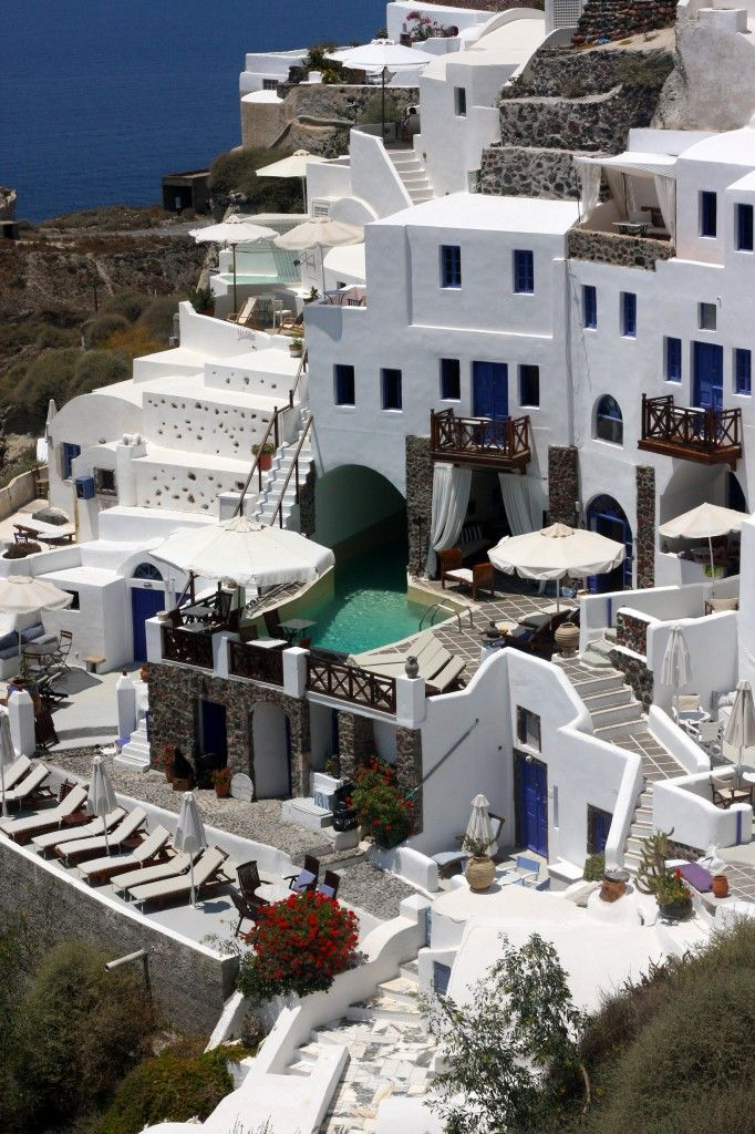 Santorini, Greek Islands - hmm how is it that I did not find this spot when I was there?  Gorgeous!