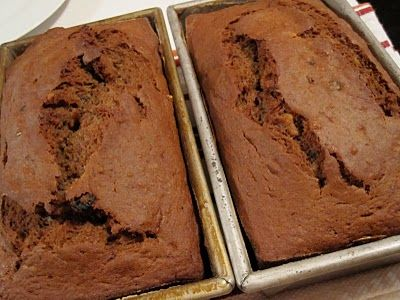 Tosca Reno's Banana Applesauce Bread.  Yummy banana bread w/o the guilt!  I make this one often!