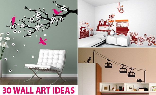 30 Beautiful Wall Art Ideas And Diy Wall Paintings For Your Inspiration Diy Wall Beautiful