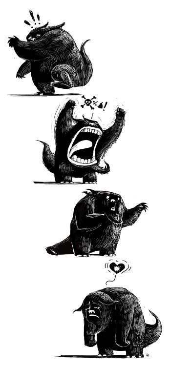 Sad, sad, sad monster.