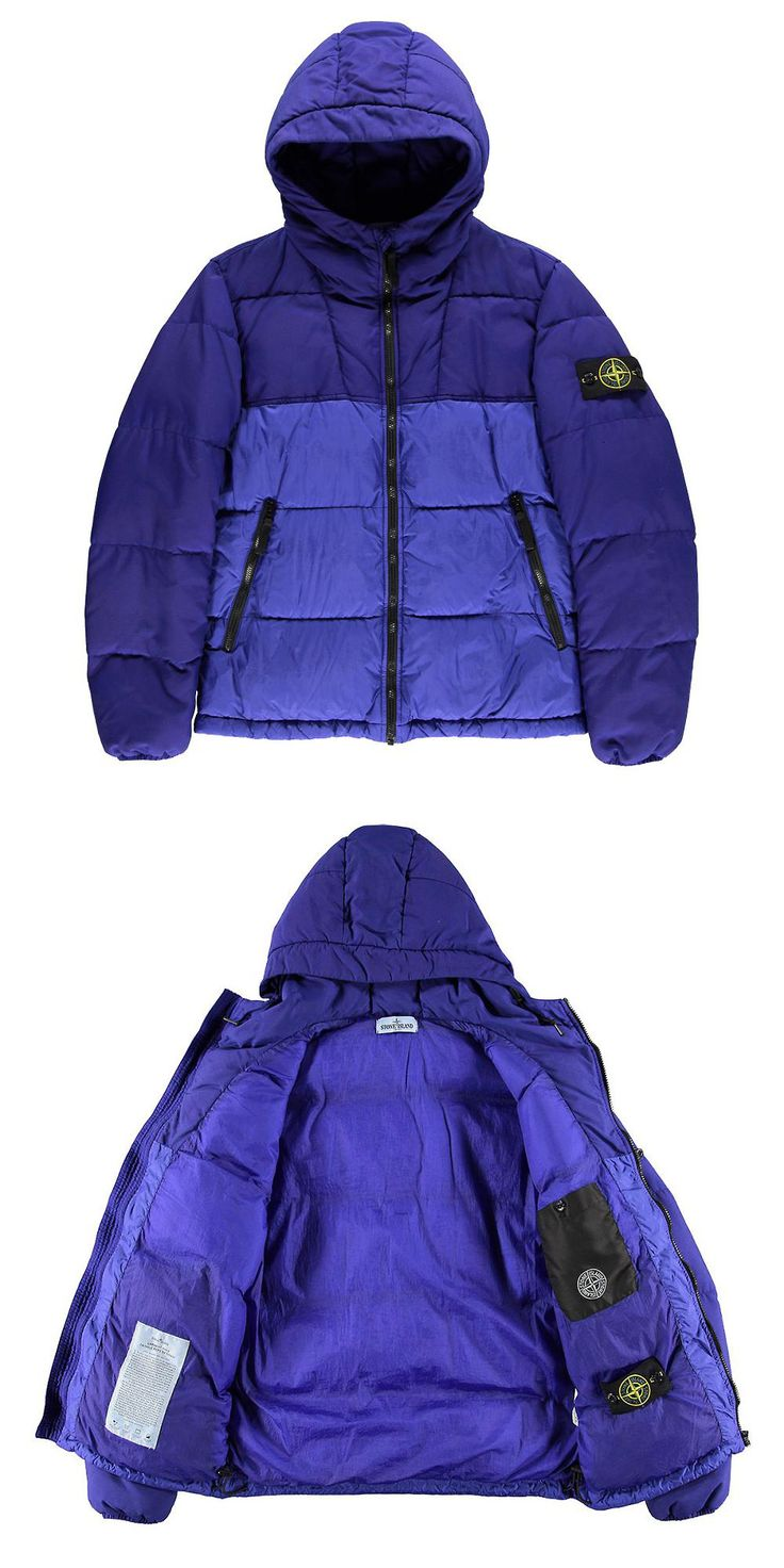 Crinkle Reps NY Down Puffa Jacket by Stone Island
