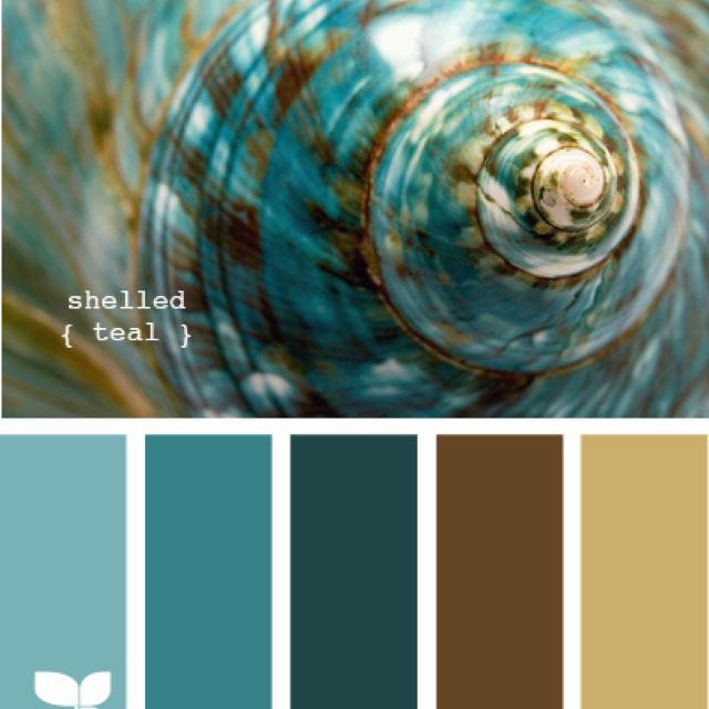Color palette aqua, brown (bedroom, bathroom?)