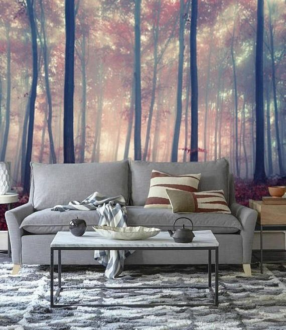 Mystic forest wall mural Gloomy Trees Fantasy Forest