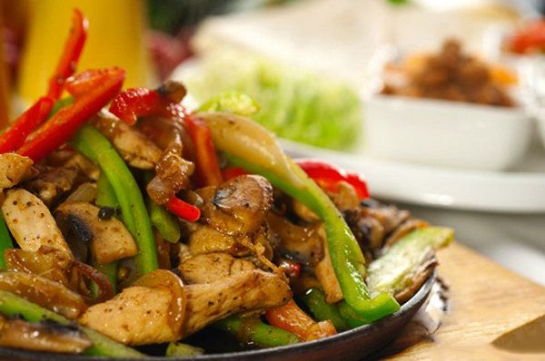 Skinny Chicken Fajitas